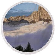 Cold Mountains Round Beach Towel