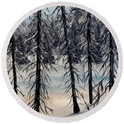 Cold Snap Round Beach Towel