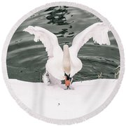 Cold Water Round Beach Towel