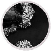 Cold White Diamonds Round Beach Towel by Darren White