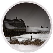 Cold Winter Night Round Beach Towel