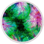 Round Beach Towel featuring the photograph Coleus by Paul Wear