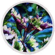 Coleus Round Beach Towel