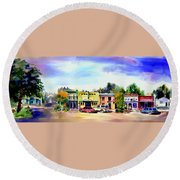 Colfax Main And Church Street Round Beach Towel