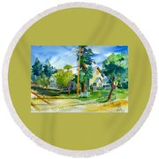 Colfax Methodist Church Round Beach Towel