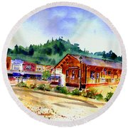 Colfax Rr Junction Round Beach Towel