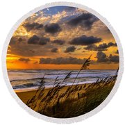 Collaboration Round Beach Towel by John Harding