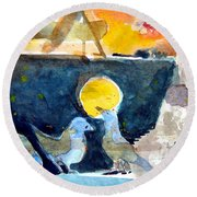 Collection Of Critters Round Beach Towel by Mindy Newman