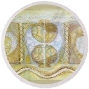 Collective Unconscious Three Equals One Equals Enlightenment Round Beach Towel