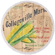 Collegeville Market Round Beach Towel