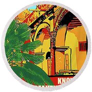 Colombia, Know Beautiful History Round Beach Towel