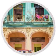 Colonial Architecture Round Beach Towel