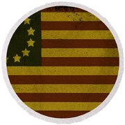 Colonial Flag Round Beach Towel by Bill Cannon