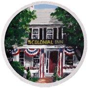 Colonial Inn Round Beach Towel