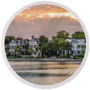 Colonial Lake Charleston Sc Round Beach Towel