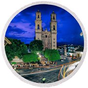 Colonial Town Of Taxco, Mexico Round Beach Towel