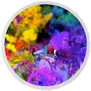 Color 102 Round Beach Towel by Pamela Cooper