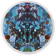 Color Abstraction Iv Round Beach Towel