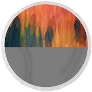 Color Abstraction L Sq Round Beach Towel