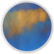 Round Beach Towel featuring the digital art Color Abstraction Lvi by David Gordon