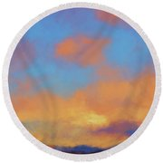 Round Beach Towel featuring the digital art Color Abstraction Lvii by David Gordon