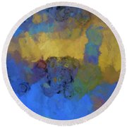 Color Abstraction Lviii Round Beach Towel