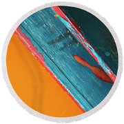Color Abstraction Lxii Sq Round Beach Towel