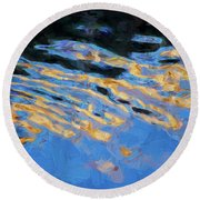 Color Abstraction Lxiv Round Beach Towel