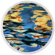 Color Abstraction Lxix Round Beach Towel
