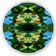 Round Beach Towel featuring the photograph Color Abstraction Lxv by David Gordon