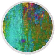 Color Abstraction Lxvii Round Beach Towel