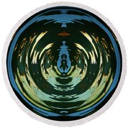 Round Beach Towel featuring the photograph Color Abstraction Lxx by David Gordon