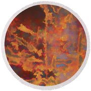 Color Abstraction Lxxi Round Beach Towel