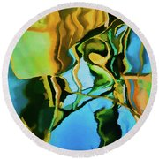 Round Beach Towel featuring the photograph Color Abstraction Lxxiii by David Gordon