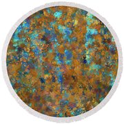 Color Abstraction Lxxiv Round Beach Towel
