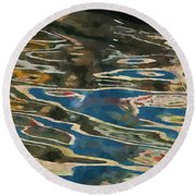 Color Abstraction Lxxv Round Beach Towel
