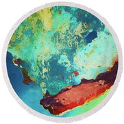 Round Beach Towel featuring the photograph Color Abstraction Lxxvi by David Gordon