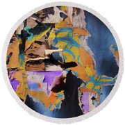 Color Abstraction Lxxvii Round Beach Towel