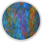 Color Abstraction Xiv Round Beach Towel by David Gordon