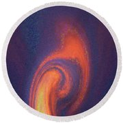 Color Abstraction Xlii Round Beach Towel