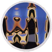Color Abstraction Xliii Round Beach Towel by David Gordon