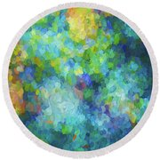 Color Abstraction Xliv Round Beach Towel