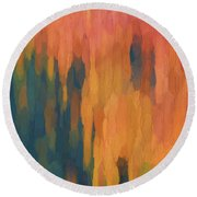 Color Abstraction Xlix Round Beach Towel