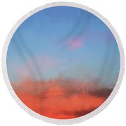 Color Abstraction Xlvii - Sunset Round Beach Towel
