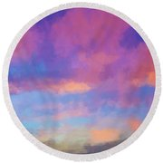 Color Abstraction Xlviii - Sunset Round Beach Towel