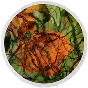 Color Abstraction Xx Round Beach Towel