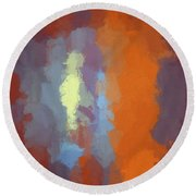 Color Abstraction Xxiii Sq Round Beach Towel