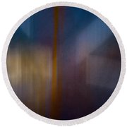 Color Abstraction Xxix Round Beach Towel by David Gordon