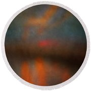 Color Abstraction Xxv Round Beach Towel