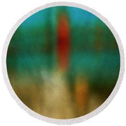 Color Abstraction Xxvi Round Beach Towel by David Gordon